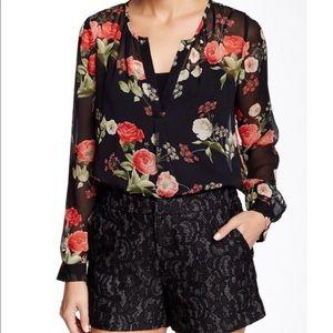 Joie   Maurelle Floral Silk Blouse   XS